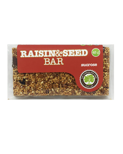 Sucrose Raisin and Seed Bar